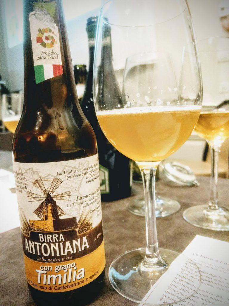 Birra Antoniana prodotta con grano Timilia cg